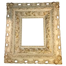 Antique Victorian Wood and Gesso Frame 19th Century