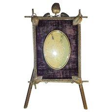 Antique American Victorian Folk Art Frame and Easel Circa 1880