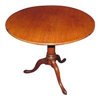 Antique English Mahogany Tea Table Circa 1780