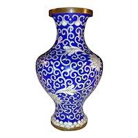 Antique Chinese Export Cloisonné Vase Circa 1900