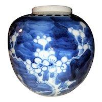Antique Chinese Porcelain Prunus Blossom Jar Circa 1900