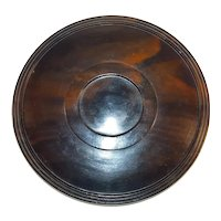 Antique Exotic Wood  Glass Dome Display Base 19th Century