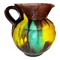 Antique 19th-Early 20th Century Japanese Export Egg and Spinach Pitcher Circa 1900
