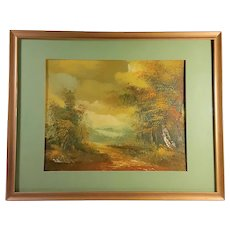 Vintage Oil on Canvas Fall Colors Circa 1980 Signed Miller