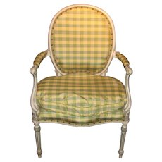 Antique English Painted Armchair  19th Century