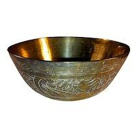 Antique Chinese Cast Brass Bowl Circa 1900