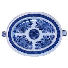 Antique Chinese Export Hot Water Warming Dish Circa 1800 Fitzhugh