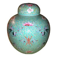 Antique Chinese Turquoise Ground Jar Circa 1930
