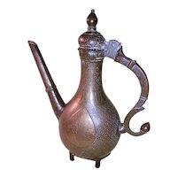 Antique India Bronze Hot Water Ewer-17th-18th  Century