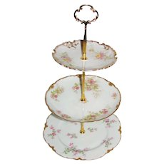 Custom Three Tier Cake Stand Made With Antique Limoges Plates Tea Party