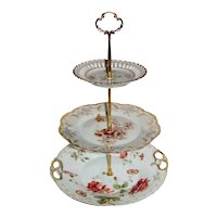 Custom Three Tier Tea Party Cake Stand Made With Antique Plates
