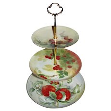 Custom Three Tier Cake Stand Made With Vintage Hand Painted Plates Tea Party