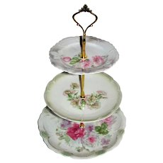 Custom Three Tier Cake Stand Made With Antique Lusterware Plates Tea Party