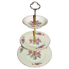 Custom Three Tier Cake Stand Made With Vintage Plates