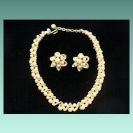 Trifari Choker and Earrings Set