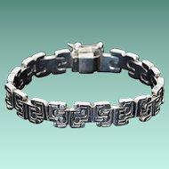 1960's Heavy Mod Sterling Silver Bracelet, Unisex