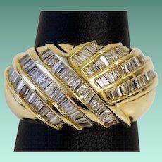 1930's Diamond Cocktail Ring in 14K Gold