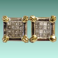 """Picture This"" Diamond and 14K Gold Earrings"