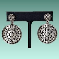 Retired John Hardy Large Dot Sterling Earrings