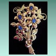 Big Happy Floral Brooch, c1945