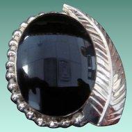 Gorgeous Black Onyx SS Pin/Pendant