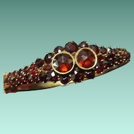 Antique Garnet Bracelet, 900 Silver
