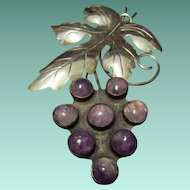 Beautiful Amethyst Grapes Brooch