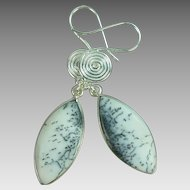 Dendrite Opal Sterling Earrings