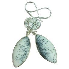 Dendrite Opal Sterling Earrings