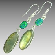 Labradorite Sterling Silver Earrings - 40% OFF