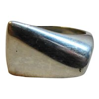 George jensen Sterling Modernist Ring