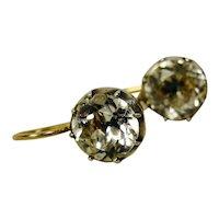 Antique Paste Earrings Silver 14K Black Dot