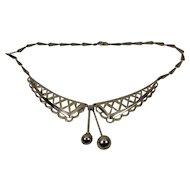 Art Deco Chrome Collar Necklace