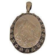 Sterling Silver Victorian Locket Pendant