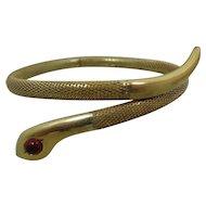 Victorian Gold-Filled Mesh Coil Snake Bracelet