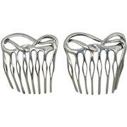 Vintage Tiffany & Company Sterling Angela Cummings Pair Hair Combs