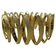 18K Modernist Textured 3-D Bracelet Charm