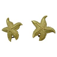 18K Tiffany & Company Starfish Earrings Vintage
