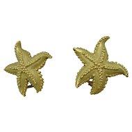 18K Tiffany & Company Starfish Earrings Vintage