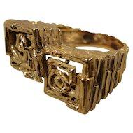 14K Modernist Ring  Man or Woman