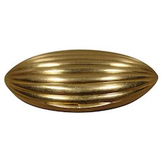18K Yellow Gold Vintage Fluted Pill Box