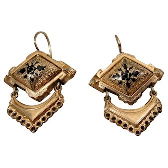 Victorian Antique Gold-Filled Earrings