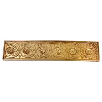 14K Etruscan Revival Victorian Pin