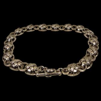 Vintage Sterling Silver Barry Kielselstein Cord Choker Necklace 1997