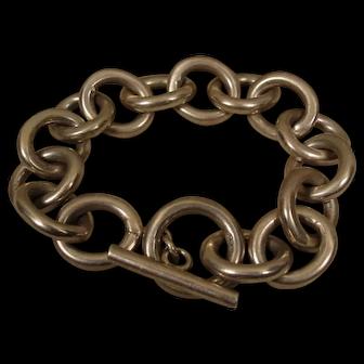 Heavy Gauge Sterling Toggle LG Link Chain Bracelet