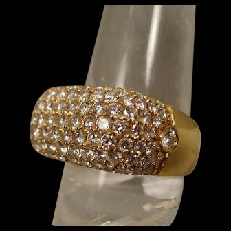 18K Pave Diamond Band Ring