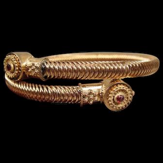 Victorian Gold-Filled Coil Bracelet