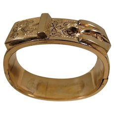 Victorian Gold-Filled Belt Bangle Bracelet