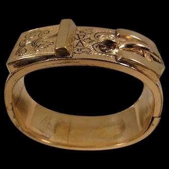 Victorian Gold-Filled Belt Bangle Bracelet