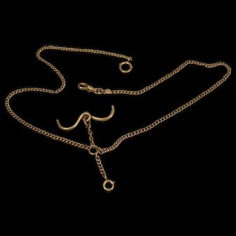 14K Victorian Watch Chain Necklace